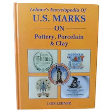 Vintage 1988 Hardbound Reference Book – Lehner's Marks on Pottery, Porcelain & Clay