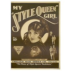 Vintage 1929 Sheet Music - My Style Queen Girl