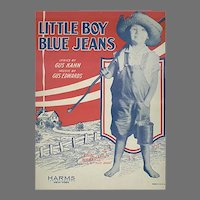 Vintage 1928 Sheet Music - Little Boy Blue Jeans by Gus Kahn