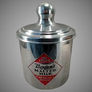 Vintage Borden's Malted Milk Canister with Advertising on Three Sides