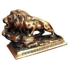 Vintage Lions International Anniversary Advertising Paperweight