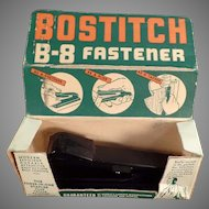 Vintage 1940's B-8 Bostitch Paper Stapler Fastener with Original Box and Some Staples