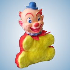 Vintage Rubber Faced Plush Clown – My Toy Plush Pal for Tots & Teens