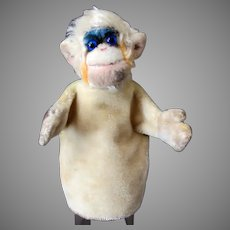 Vintage Steiff Mohair Mungo Monkey Hand Puppet - Late 1950's - 1960's