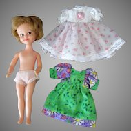 Vintage Penny Brite Doll with Two Pretty Outfits – 1960's