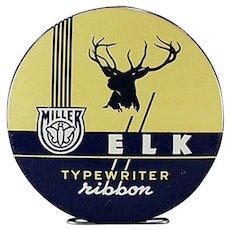 Vintage Typewriter Ribbon Tin - Miller Elk Brand