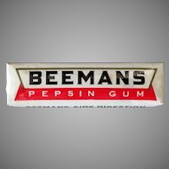 Vintage Package of Five Sticks of Beemans Pepsin Chewing Gum