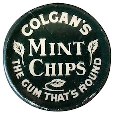 Vintage Colgan's Mint Chips Gum Tin - 1910