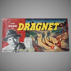 Vintage 1955 Transogram Dragnet Board Game - Complete Cops & Robbers Game