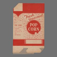 "Unused Vintage Popcorn Box - ""Fresh Seasoned"""