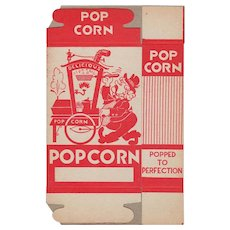 Unused Vintage Popcorn Box - Orgn Grinder Popcorn Vendor Graphics