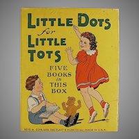 Child's Vintage Platt & Munk Little Dots for Little Tots Toy Box