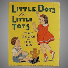 Child's Vintage Platt & Munk Little Dots for Little Tots Toy Box