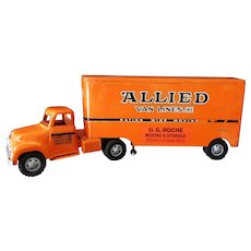 Vintage 1957 Tonka Allied Van Lines Semi-Truck - Very Nice Original Condition
