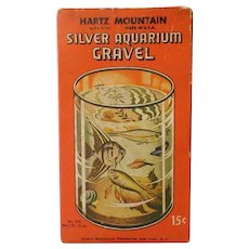 Vintage Hartz Mountain Silver Aquarium Gravel Box with Fish Graphics - Empty