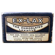 Vintage Ex-Lax Laxative Sample Package Box