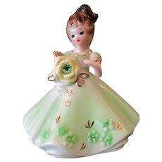 Vintage Josef Original Birthday Girl for August – Peridot Birthstone
