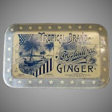 Vintage Tropical Brand Crystallized Ginger Candy Tin – Very Nice Graphics