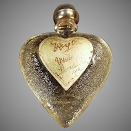 Vintage White Shoulders Sample Perfume in Heart Bottle with Original Label