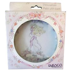 Vintage Enesco Precious Moments Namesake Plate with Original Box - Ann