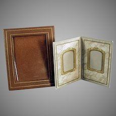Two Vintage Photograph Picture Frames for a Desk or Mantle