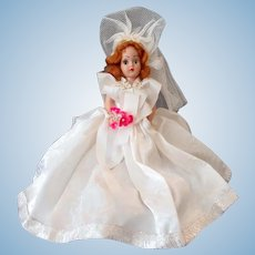 Vintage Duchess Bride Doll with Auburn Hair and Blue Eyes