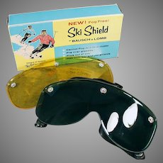 Vintage Bausch & Lomb Ski Shield Goggles with Two Lenses in Original Box