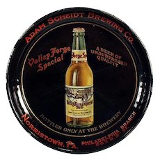 Vintage Advertising Tip Tray - Adam Scheidt Brewing Co. Valley Forge Beer