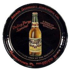 Vintage Advertising Tip Tray - Adam Scheidt Brewing Co. Valley Forge Beer