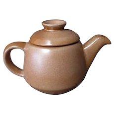 Vintage Frankoma Pottery - Westwind 6J Covered Teapot – Brown Glaze