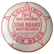 Vintage Celluloid Advertising Clothes Brush – Oklahoma Company - Iron Beds, Springs & Mattresses