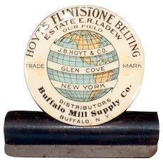 Vintage Hoyt's Flintstone Belting Celluloid Advertising Clip