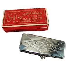 Vintage Stanford Five Second Razor Blade Sharpener with Original Box