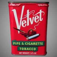 Vintage Vertical Pocket Tobacco Tin - Velvet Pipe & Cigarette Tobacco Tin