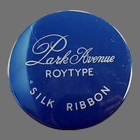 Vintage Typewritter Ribbon Tin - Royal Park Avenue Roytyp Silk Ribbon Tin
