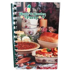 Old Recipe Book- Home & Garden Party Cookbook – Lots of Fun