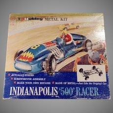 Vintage Hubley Scale Model Metal Kit Indianapolis 500 Race Car #852K-300