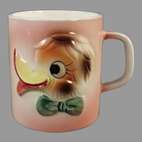 Child's Vintage Milk Cup - Funny Duck Face Mug - 1960's Japan