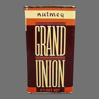 Vintage Spice Tin - Grand Union Nutmeg