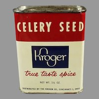 Vintage Spice Tin - Kroger Celery Seed with Grapefruit French Dressing Recipe
