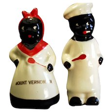 Vintage Black Memorabilia Virginia Souvenir - Mammy & Chef Salt & Pepper Set