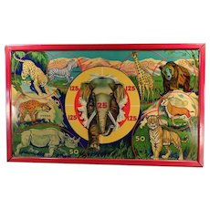 Vintage Wild Africa Target Game with Colorful African Animals - Original Box
