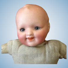 Vintage German Bisque Baby Doll –with Sweet Face - Theodor Recknagel Germany