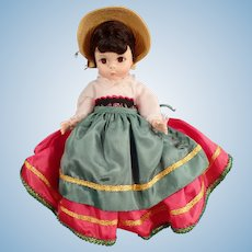 Vintage Madame Alexander #593 Doll - Italy Foreign Friends International Series