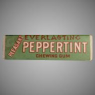 Vintage Pleasant Products Everlasting Peppertint Peppermint Chewing Gum Stick