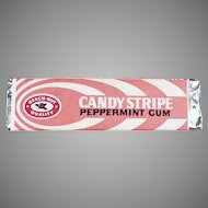 Vintage Chewing Gum - Beech Nut Candy Stripe Chewing Gum Stick ca. 1960's