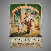 Vintage Old Judson Advertising Matchsafe - Wall Match Safe Holder