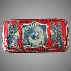 Vintage Yankee Razor Blade Tin – Small Advertising Tin with Great Graphics