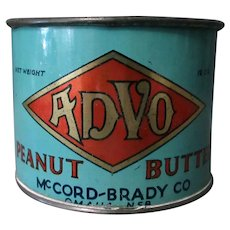Unique Vintage Advo Peanut Butter Tin Measuring Cup - Early 1900's