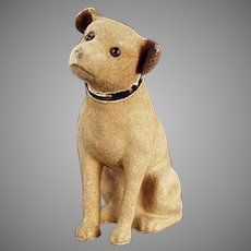 Vintage RCA Victor Nipper Mascot Phonograph Advertising Dog Bank - 1930's